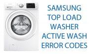 Samsung Top Load Washer activewash error codes
