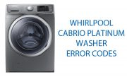 Whirlpool Cabrio Platinum Washer Error Codes