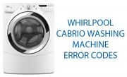 Whirlpool Cabrio Washing Machine Error Codes
