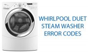 Whirlpool Duet Steam Washer Error Codes