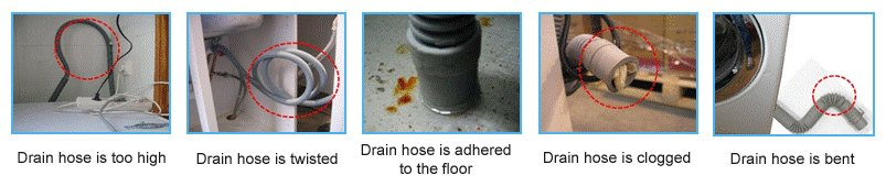 How NOT to install the drain hose