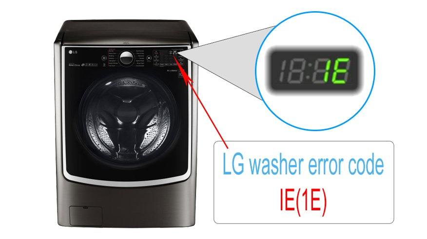 LG washer error code IE(1E)