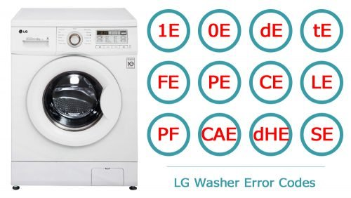LG washer error codes