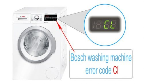 Bosch washing machine error code Cl