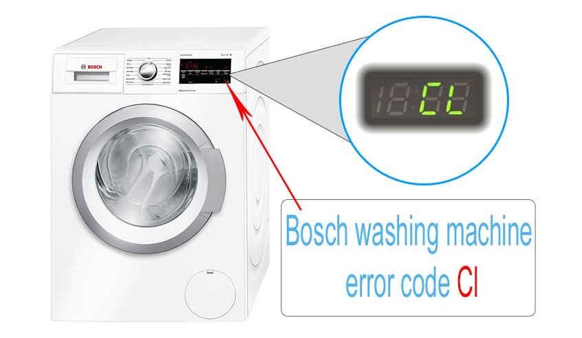 Bosch washing machine error code Cl | Washer and dishwasher