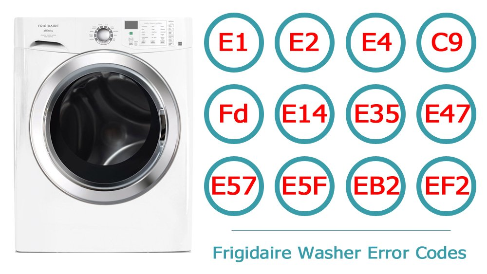 Frigidaire Washer Error Codes | Washer and dishwasher error