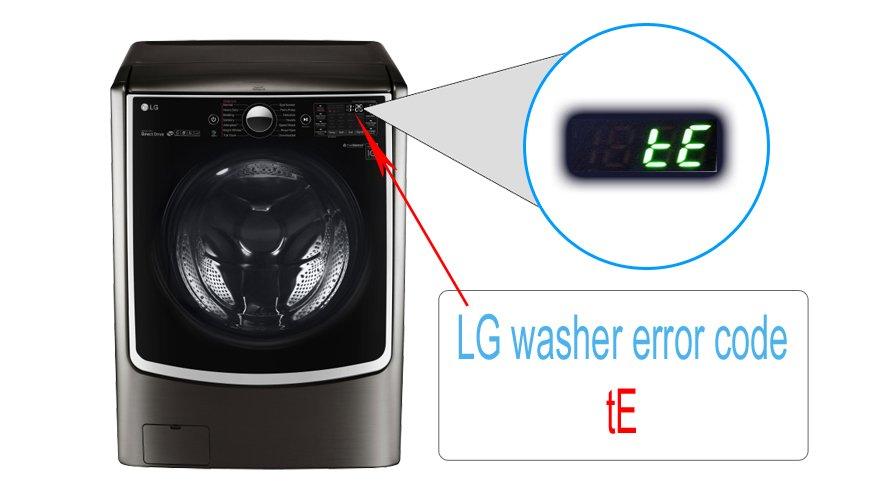 LG washer error code tE | Washer and dishwasher error codes