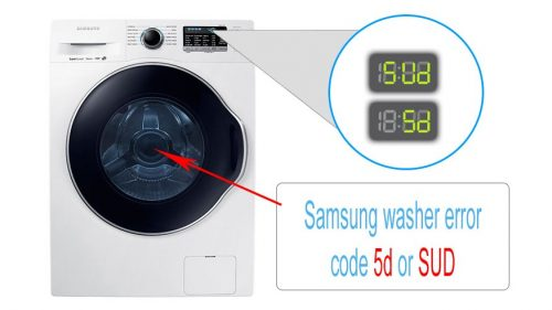 Samsung washer error code 5d or SUD
