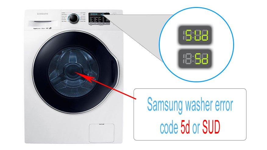Samsung Washer Error Code 5d Or Sud