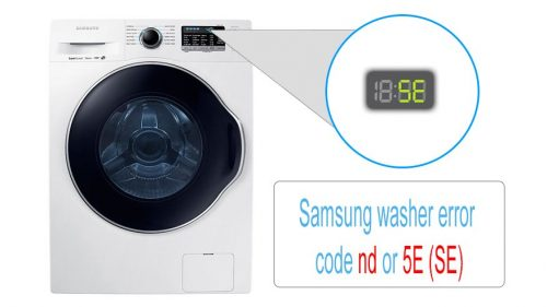 Samsung washer error code nd or 5E (SE)
