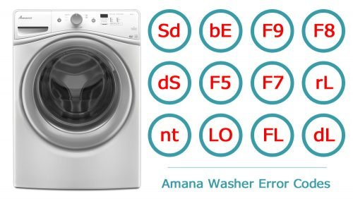 Amana Washer Error Codes