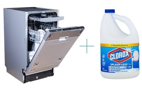 Clean Dishwasher with Bleach