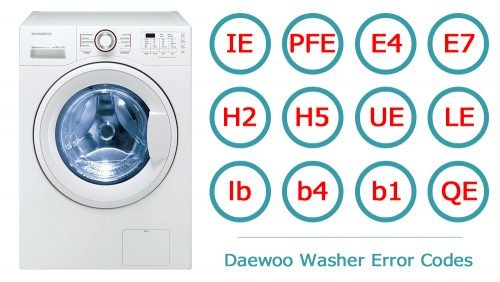 Daewoo washer error codes