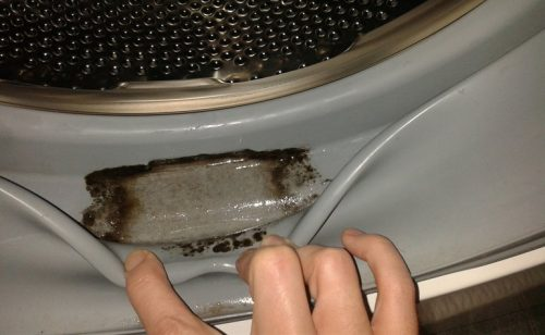How to Clean a Washing Machine Under an Elastic Band