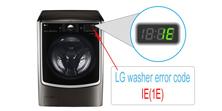 LG washer error code IE(1E)