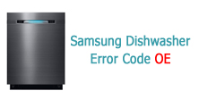 Samsung Dishwasher Error Code OE
