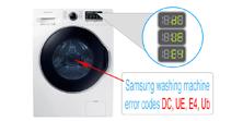 Samsung Washer Error Codes Dc, Ue, E4, Ub