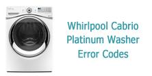 Whirlpool Cabrio Platinum Washer Error Codes