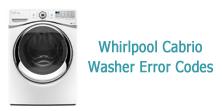 Whirlpool Cabrio Washer Error Codes