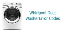 Whirlpool Duet Washer Error Codes
