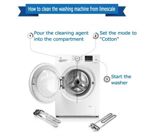 How to clean the washing machine from limescale