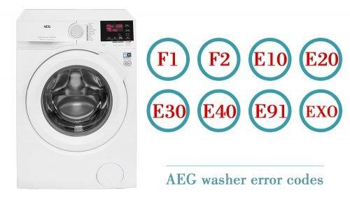 AEG washer error codes