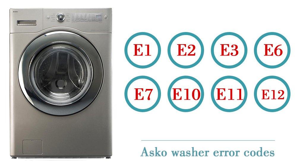 Asko washer error codes | Washer and dishwasher error codes