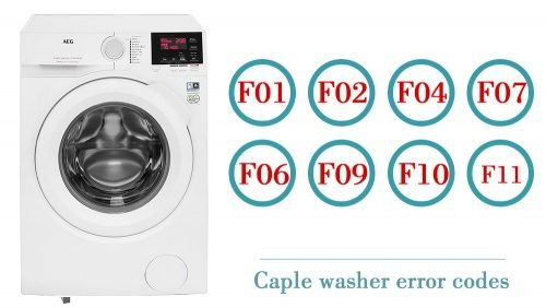 Caple washer error codes