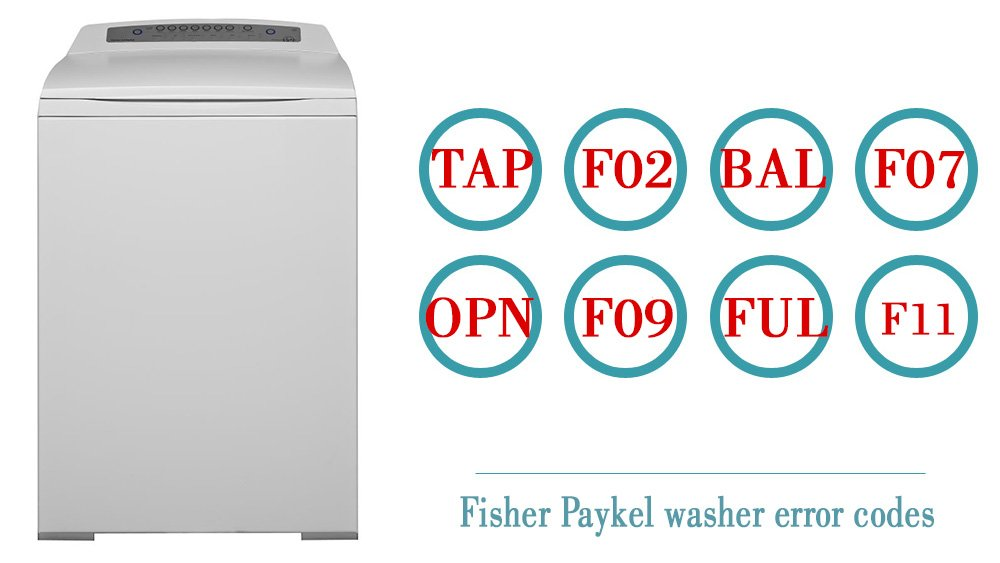 Fisher Paykel washer error codes | Washer and dishwasher
