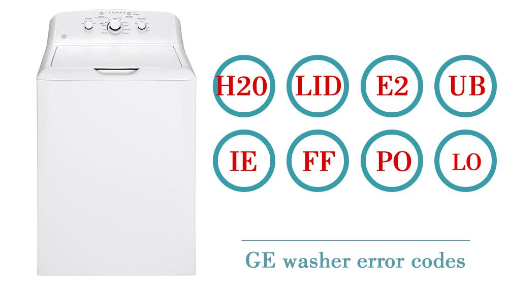 GE washer error codes | Washer and dishwasher error codes