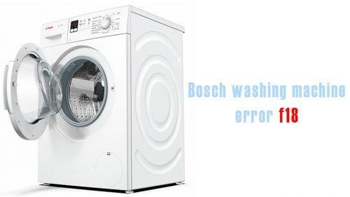 F18 error on bosch washing machine