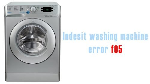 Indesit washing machine error f05