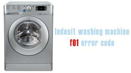 Indesit washing machine f01 error code
