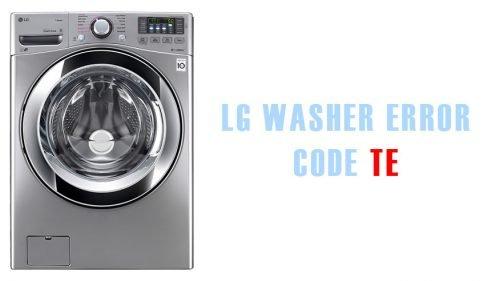 LG washer error code tE