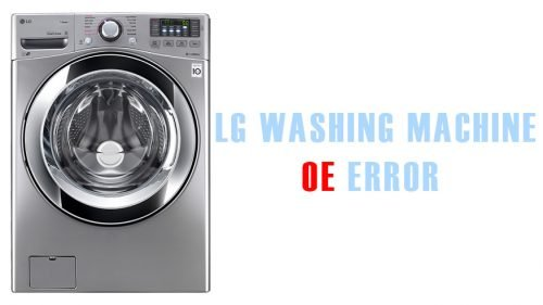 LG washing machine 0e error