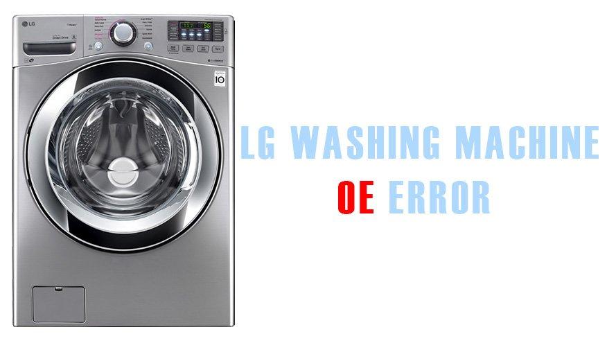 lg dishwasher error code oe