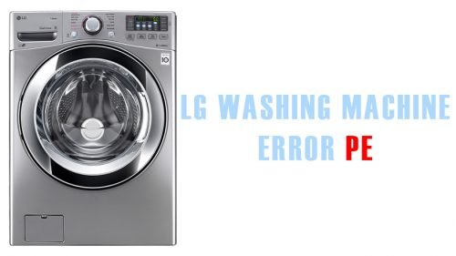 LG washing machine error PE
