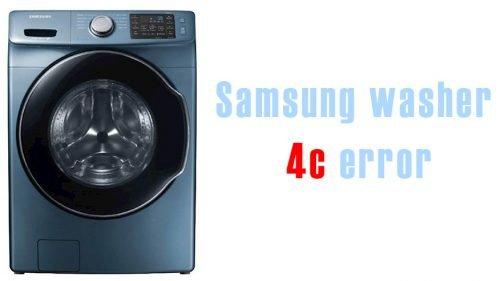 Samsung washer 4c error