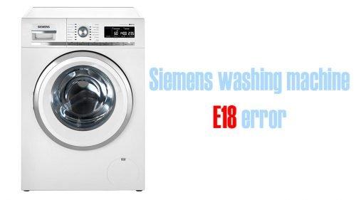 Siemens washing machine error e18
