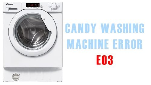 Candy washing machine error e03