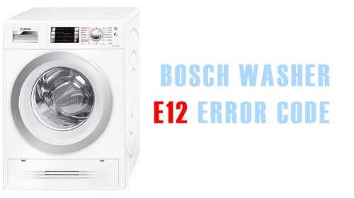 E12 error code bosch washer