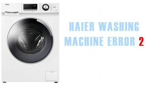 Haier washing machine error 2