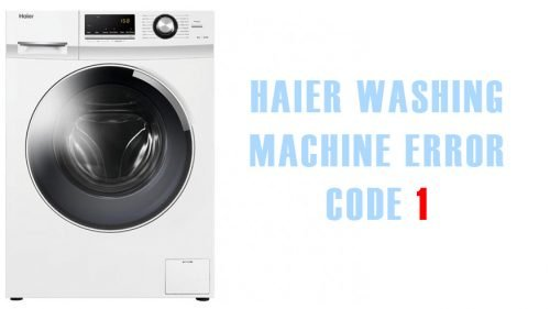 Haier washing machine error code 1