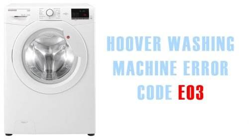Hoover washing machine error code e03