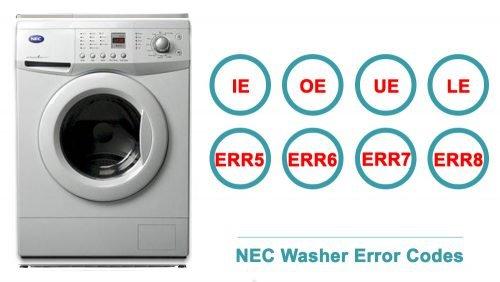 NEC Washer Error Codes