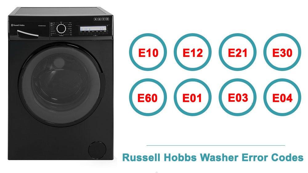 Russell Hobbs Washer Error Codes | Washer and dishwasher error codes