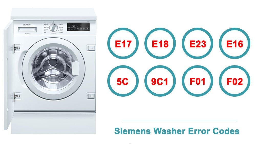 Siemens Washer Error Codes   Washer and dishwasher error codes and