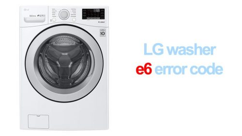 LG washer e6 error code