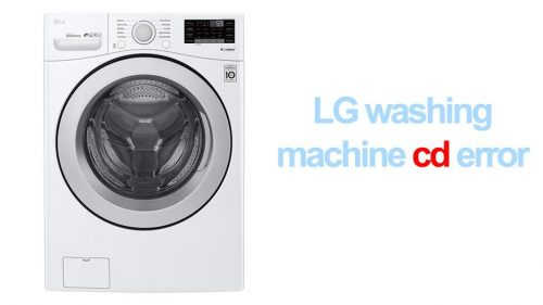 LG washing machine cd error