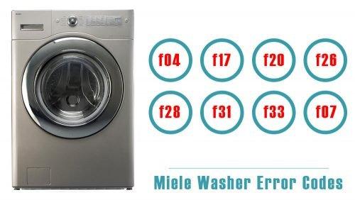 Miele Washer Error Codes